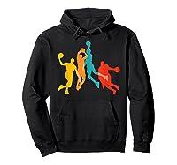 Basketball Vintage Bball Basketball Player Dunk Sport Gift Shirts Hoodie Black