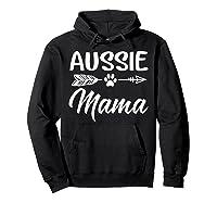 Aussie Mama Dog Mom Cute T-shirt Hoodie Black