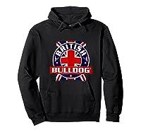 British Bulldog Flag Graphic Shirts Hoodie Black