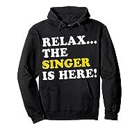 Relax Funny Singer Shirt Job Gift Lazyday Hoodie Black
