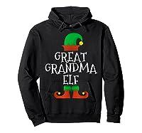 Great Grandma Elf Christmas Funny Xmas Gift Shirts Hoodie Black