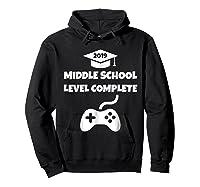 Funny Middle School Graduation Video Gamer Tshirt Hoodie Black