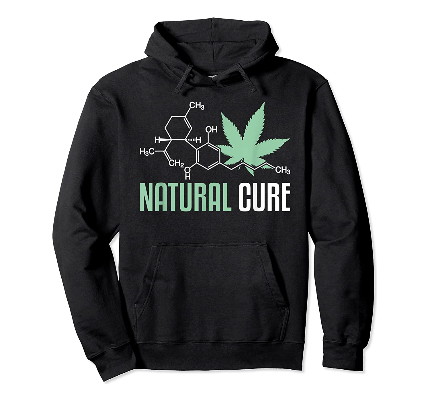 Natural Cure Cbd T-shirt Unisex Pullover Hoodie