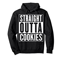 Straight Outta Cookies Distressed Vintage Funny Shirts Hoodie Black