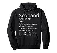 Scotland Definition Funny Scottish Scotland Shirts Hoodie Black