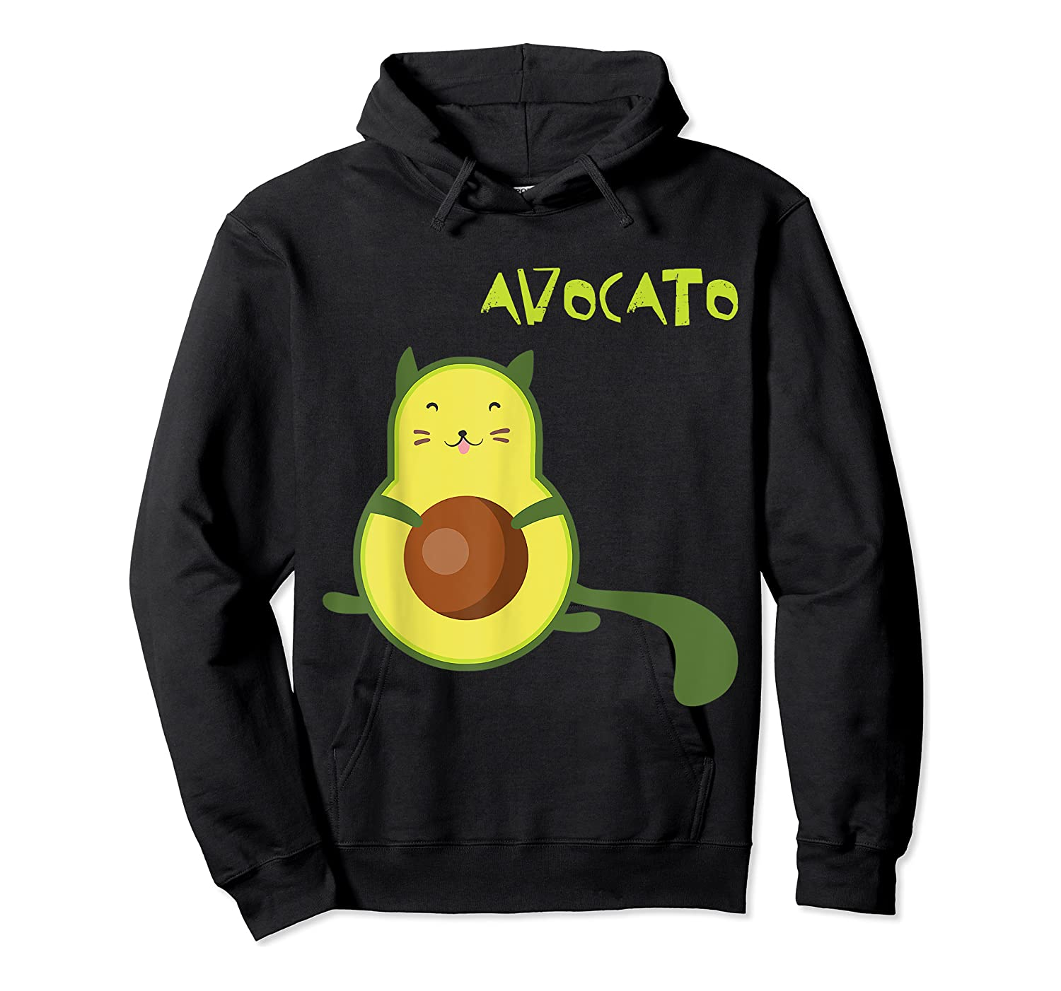 Avocato Funny Cute Cat Gift For Vegan Shirts Unisex Pullover Hoodie