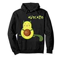 Avocato Funny Cute Cat Gift For Vegan Shirts Hoodie Black