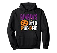 Pawpaw's Little Pumpkin Halloween Cute Pumpkin Gifts Shirts Hoodie Black