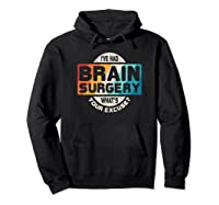 Brain Surgery Shirt Survivor Post Cancer Tumor Recovery Gift Hoodie Black