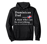 Dominican Dad Definition Dominican Republic Flag Fathers Shirts Hoodie Black