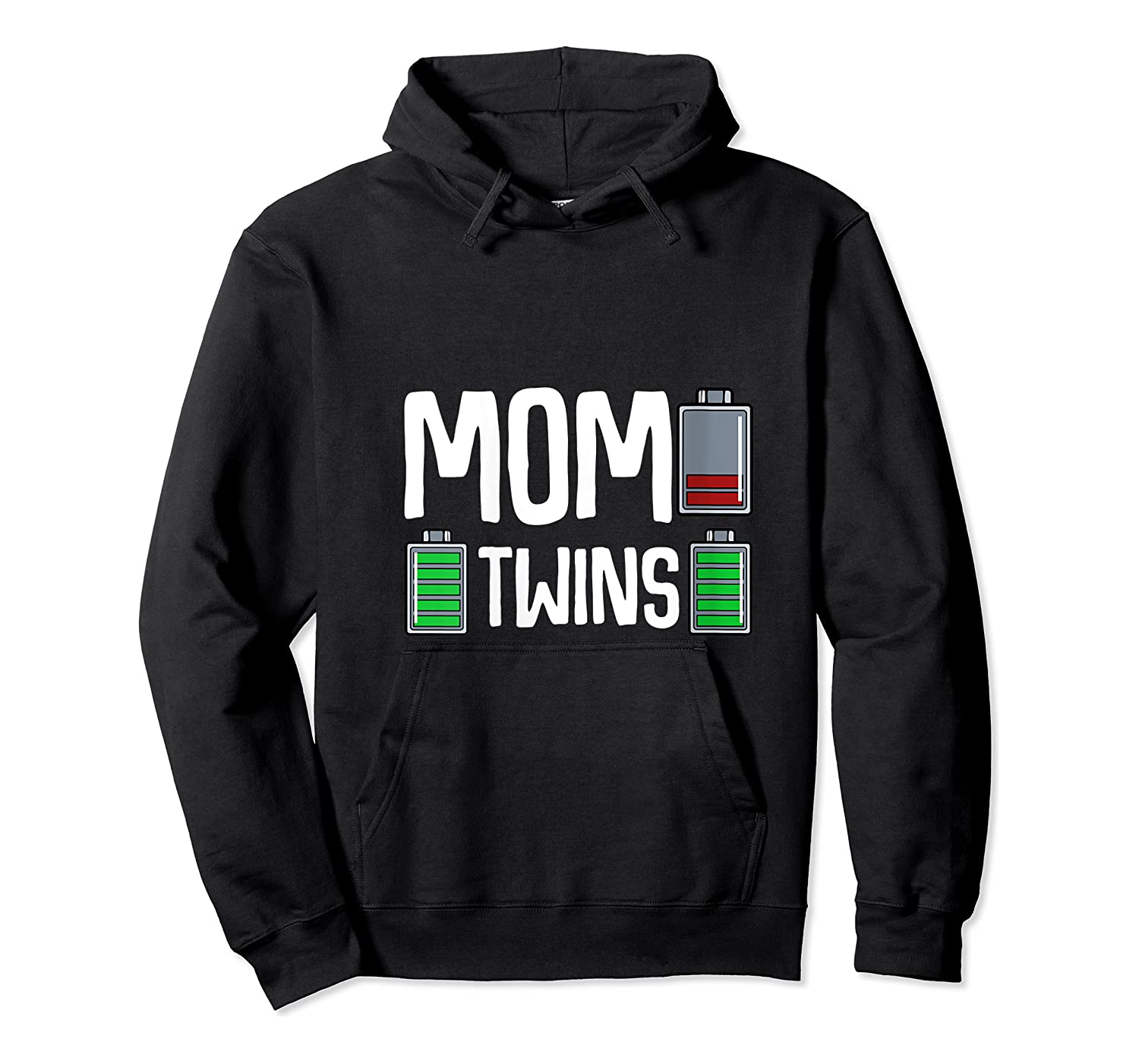 Tired Mom Low Battery Twins Full Charge Funny Happy Birthday Shirts Unisex Pullover Hoodie