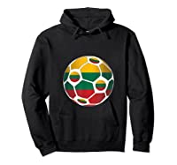 Lithuania Flag Soccer Ball Team Fan Shirt Hoodie Black