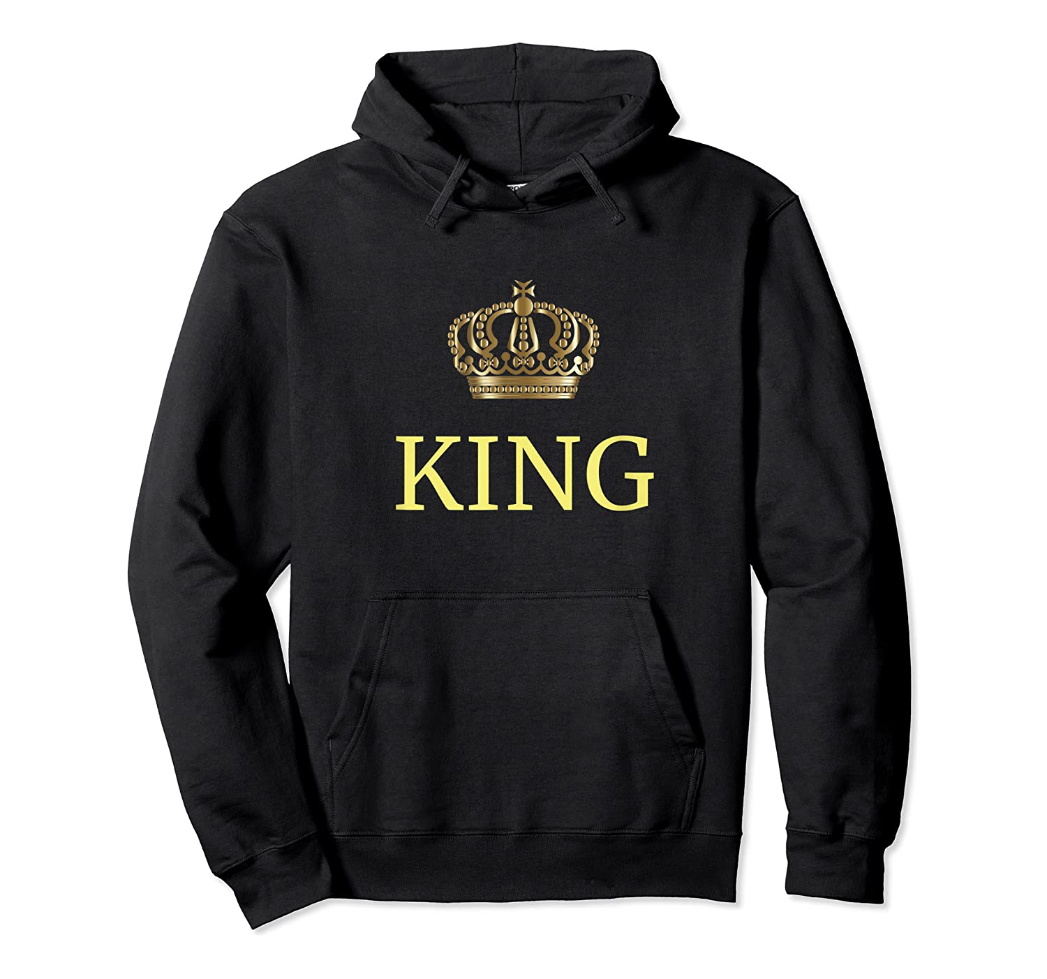 King Gold Crown Birthday Gift Funny Happy Birthday Shirts Unisex Pullover Hoodie