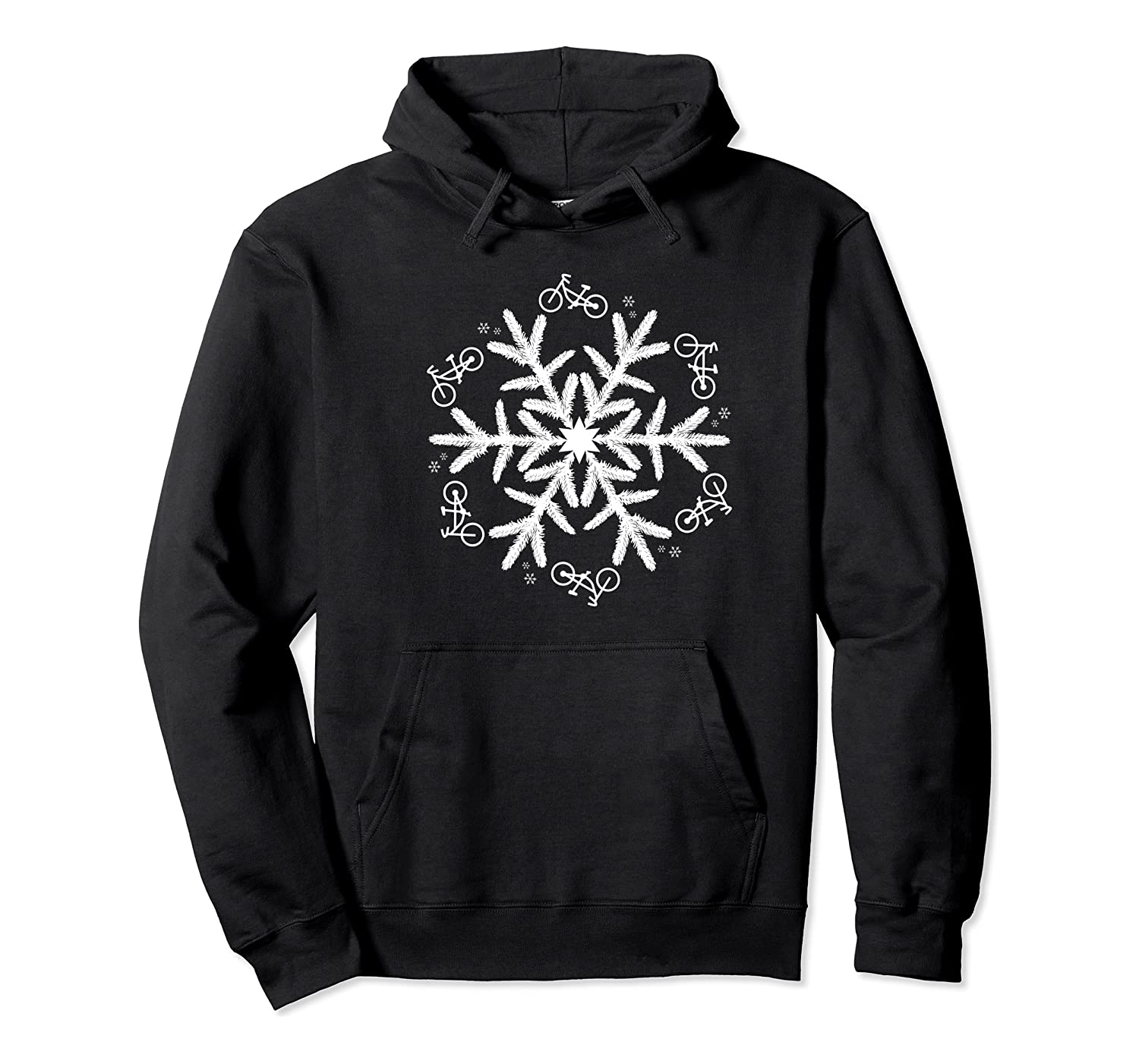 Cycling Christmas Snowflake Pattern Shirts Unisex Pullover Hoodie