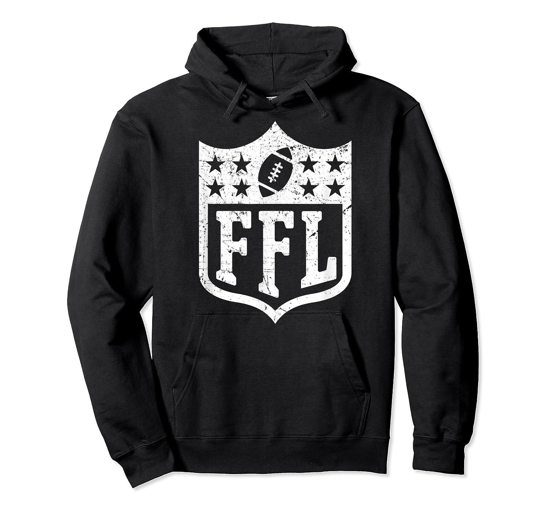 Fantasy Football Retro Distressed Ffl Logo Champion Gift Shirts Unisex Pullover Hoodie