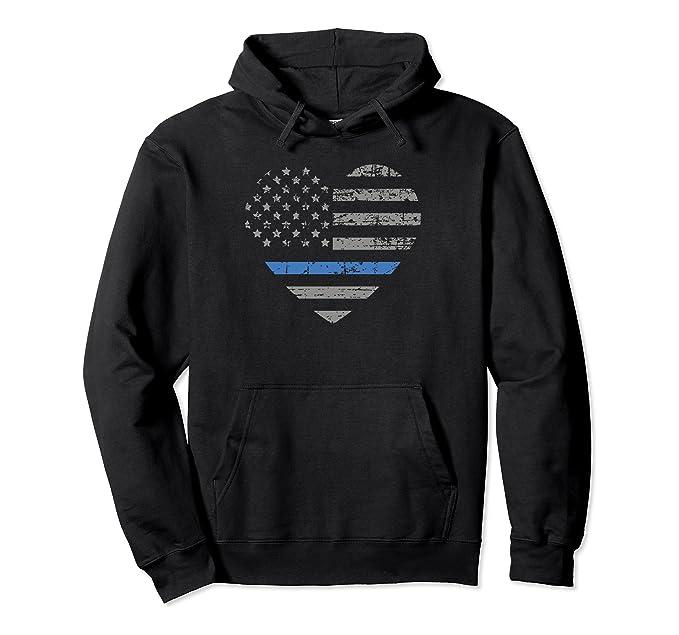 thin blue line womens hoodie apparel