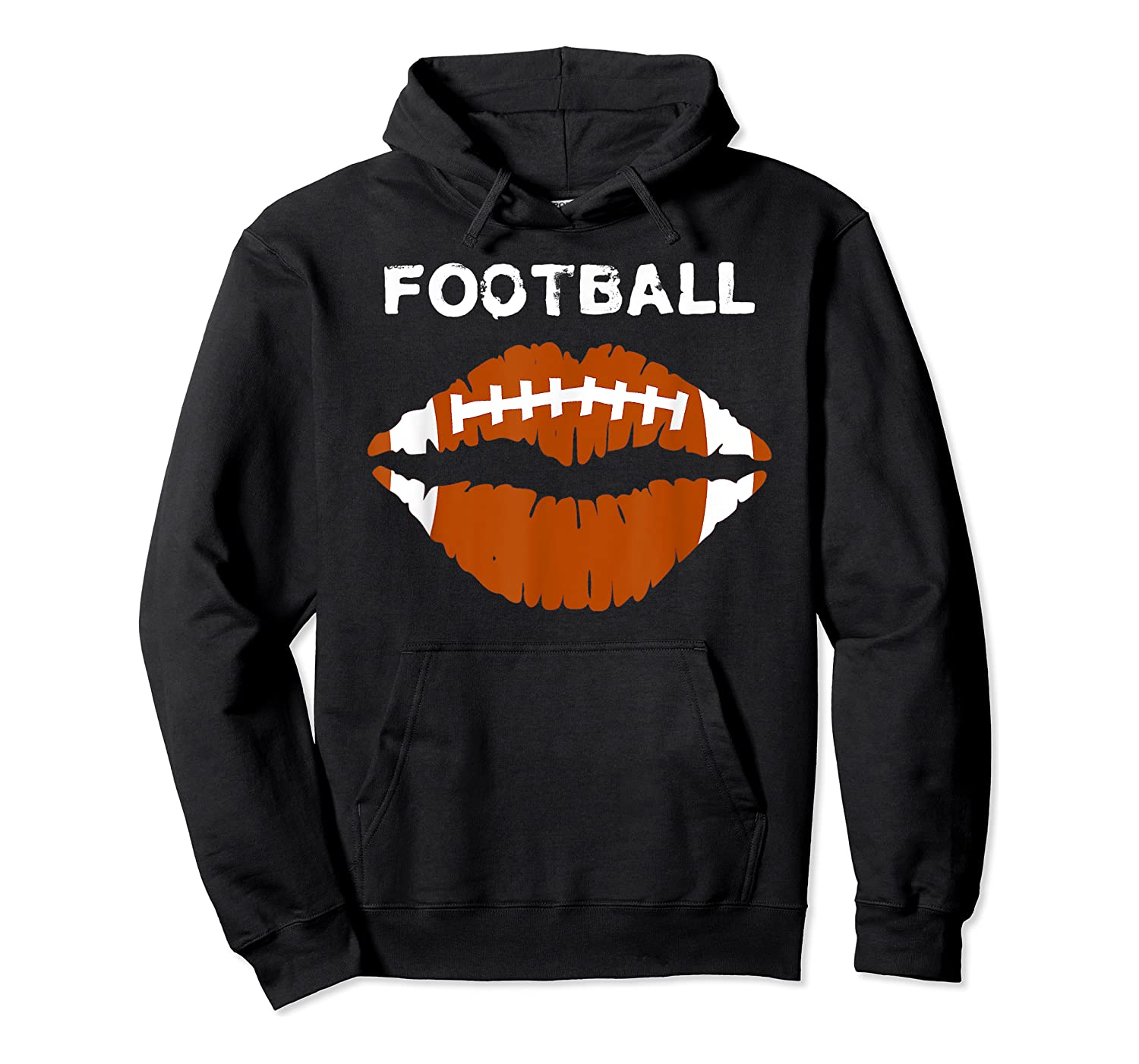 Football Text Sports Football Laces Lip Sporty Shirts Unisex Pullover Hoodie