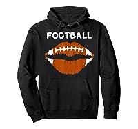 Football Text Sports Football Laces Lip Sporty Shirts Hoodie Black