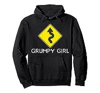Sarcastic Funny Grumpy Girl Humor Shirts Hoodie Black