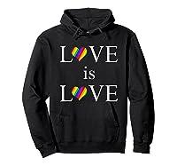 Love Is Love Lgbt Rights Shirts Hoodie Black