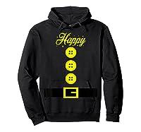 Dwarf Costume T-shirt - Funny Halloween Gift Idea - Happy T-shirt Hoodie Black