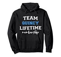 S Team Quincy Groom Squad Custom Bachelor Party Wedding T-shirt Hoodie Black