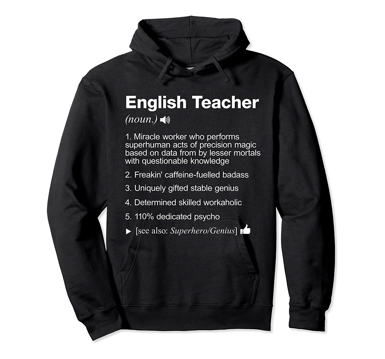 English Tea Definition Meaning Funny T-shirt Unisex Pullover Hoodie