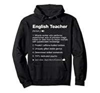 English Tea Definition Meaning Funny T-shirt Hoodie Black