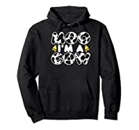 Moo I'm A Cow With Bell Funny Animal Halloween Costume Humor Shirts Hoodie Black