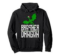 Brother Dragon Christmas Shirt Matching Family Tribe Son Boy T-shirt Hoodie Black