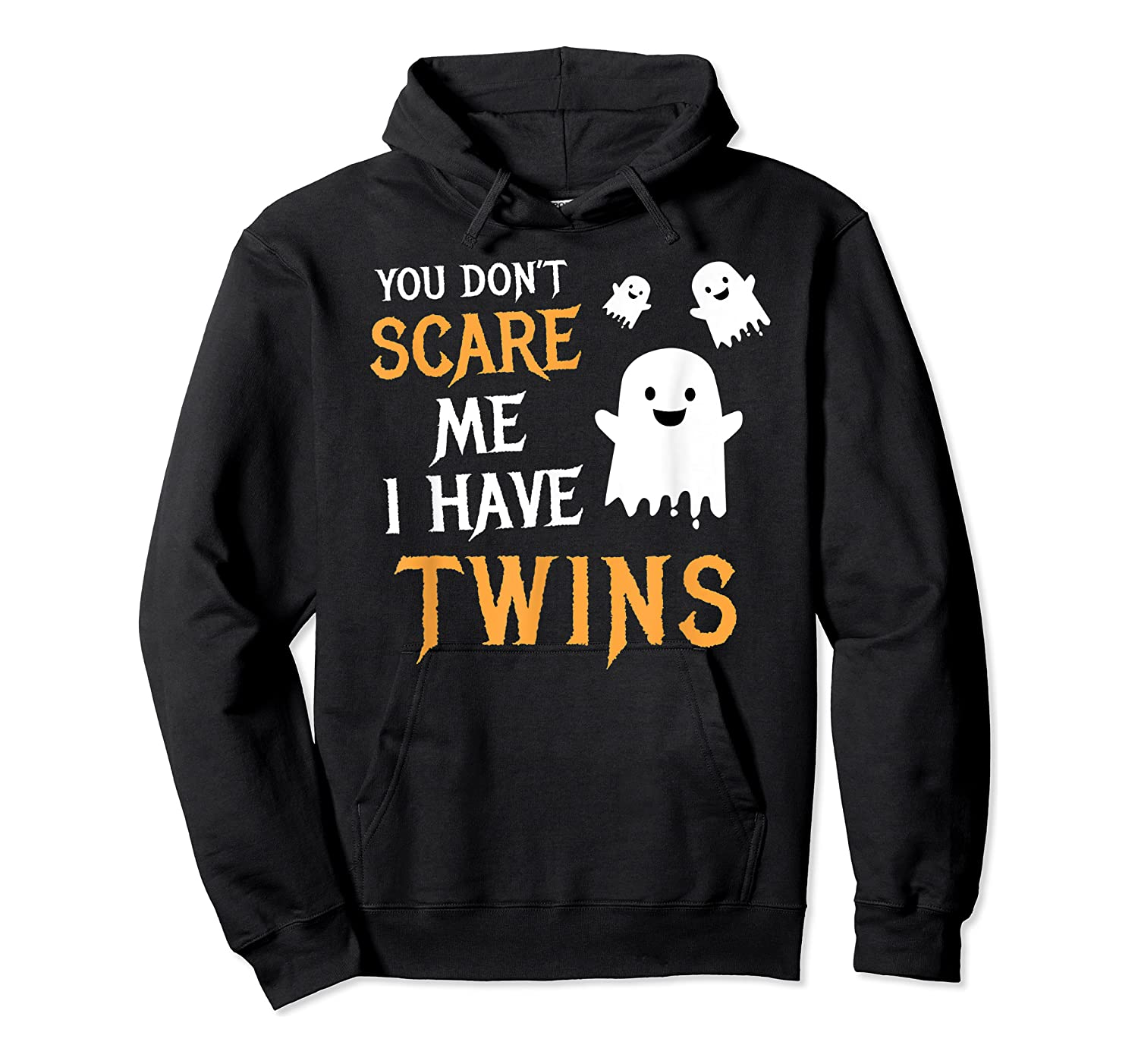 Funny Parents Of Twins Shirt Halloween Gift Unisex Pullover Hoodie