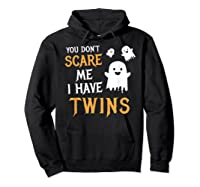 Funny Parents Of Twins Shirt Halloween Gift Hoodie Black