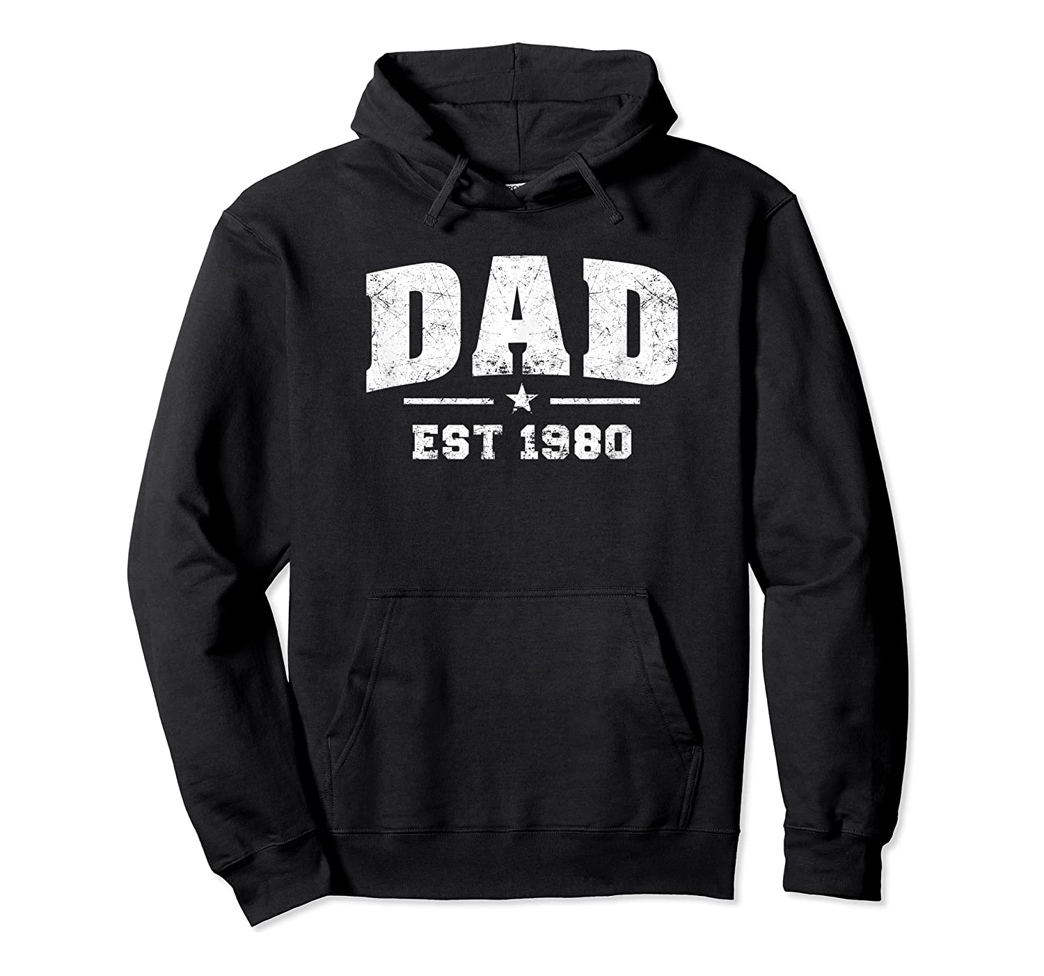 Dad Established 1980 Father's Day Gift T-shirt Unisex Pullover Hoodie