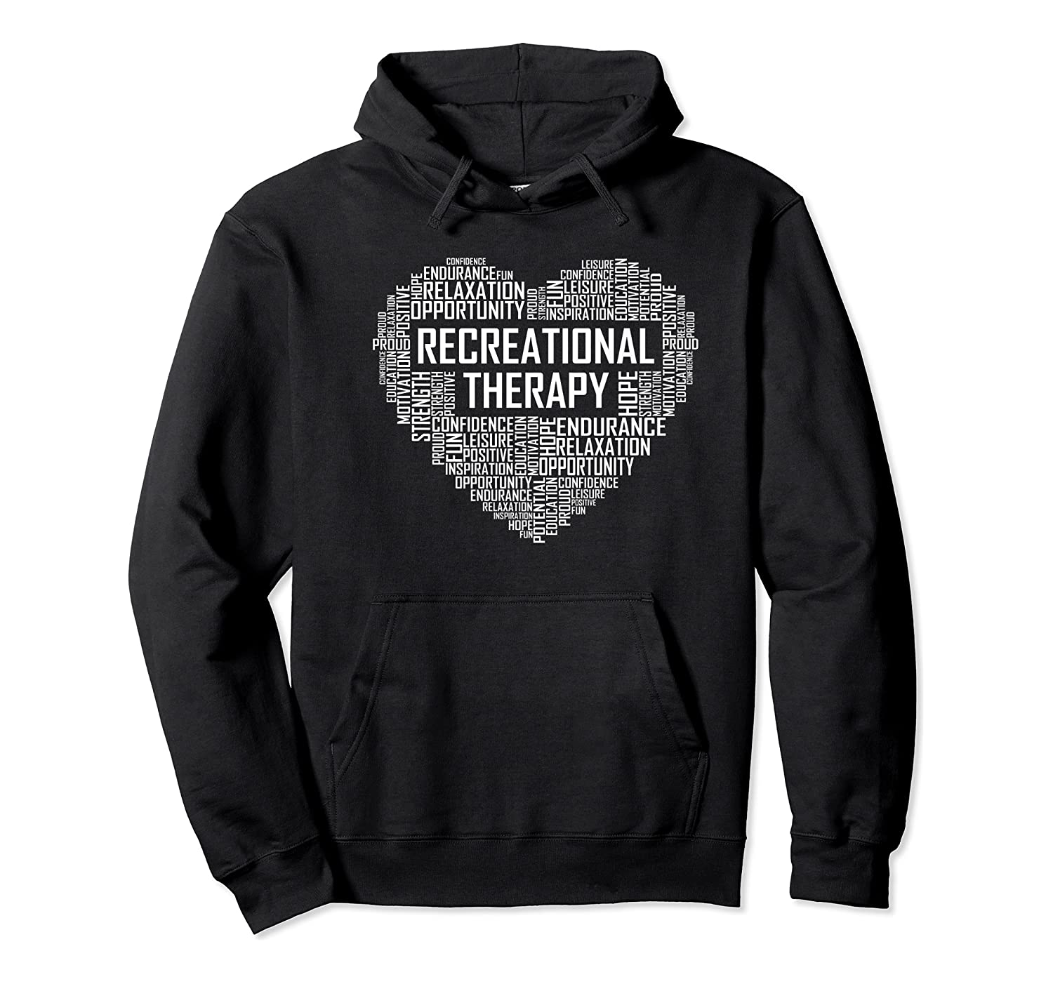 Recreational Therapy Heart Gift Therapist Rt Month Gifts Premium T-shirt Unisex Pullover Hoodie