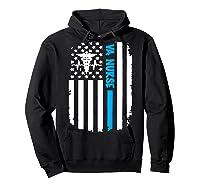 Va Nurse Distressed American Flag Short Sleeve Tshirt Hoodie Black