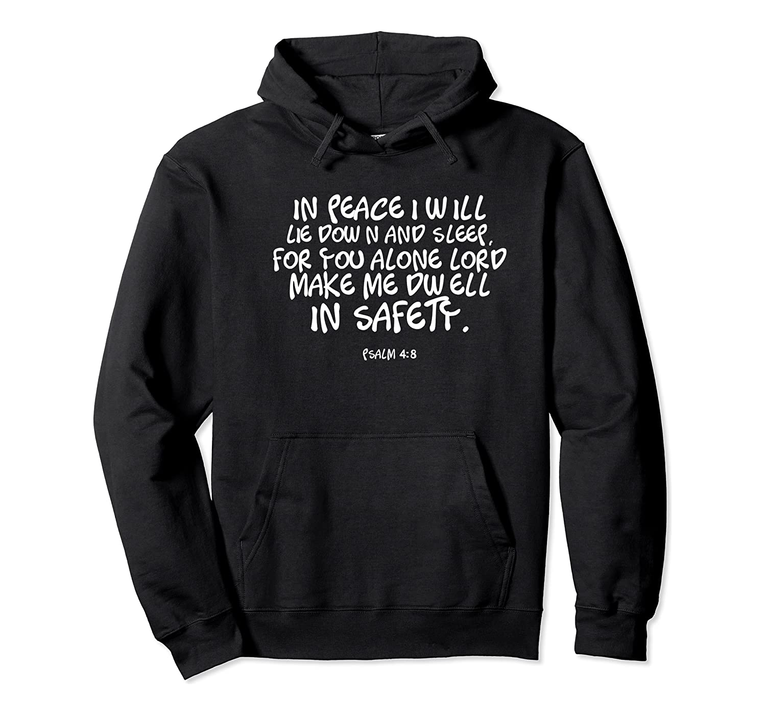 In Peace I Will Lie Down And Sleep Bible Verse Psalm 4:8 Premium T-shirt Unisex Pullover Hoodie