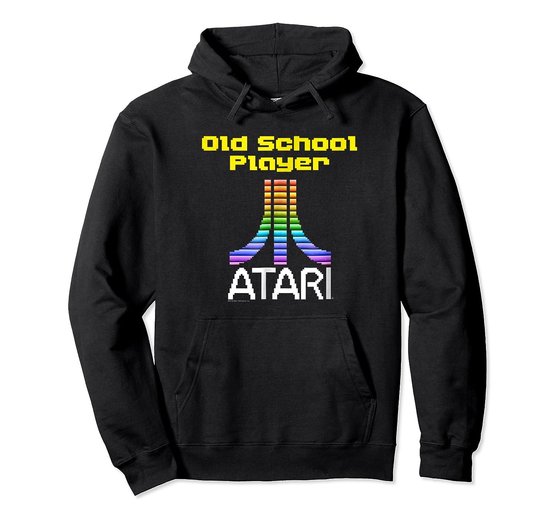 Atari Old School Player Atari 8 Bit Gradient Logo Shirts Unisex Pullover Hoodie