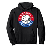 Peanuts Snoopy For President Shirts Hoodie Black