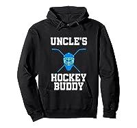 Uncle's Hockey Buddy Ice Hockey Player Buddy Shirts Hoodie Black