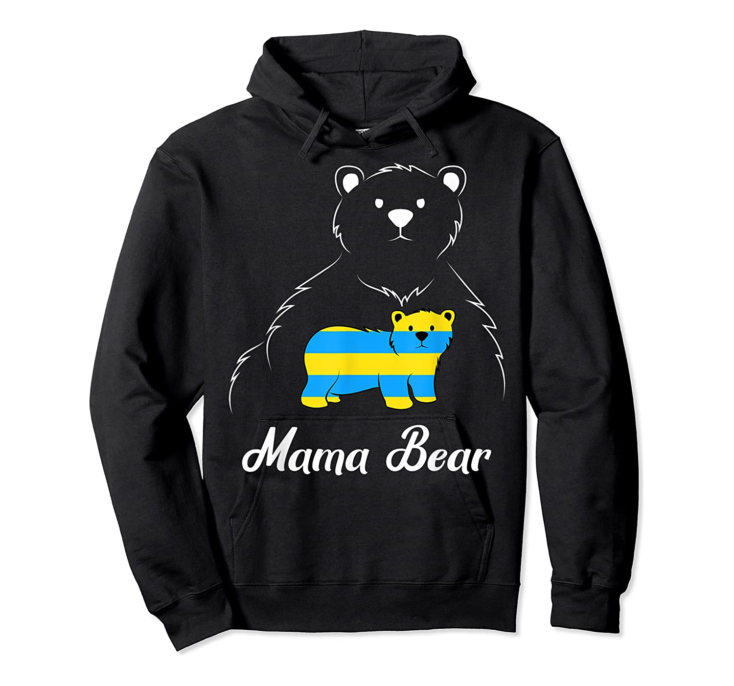 Down Syndrome Mom Awareness Trisomy 21 Gold Blue Ribbon Gift T-shirt Unisex Pullover Hoodie