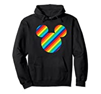 Mickey Mouse Rainbow Icon Shirts Hoodie Black