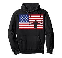 Gymnastics Rings Usa American Flag Gymnast 4th Of July T-shirt Hoodie Black