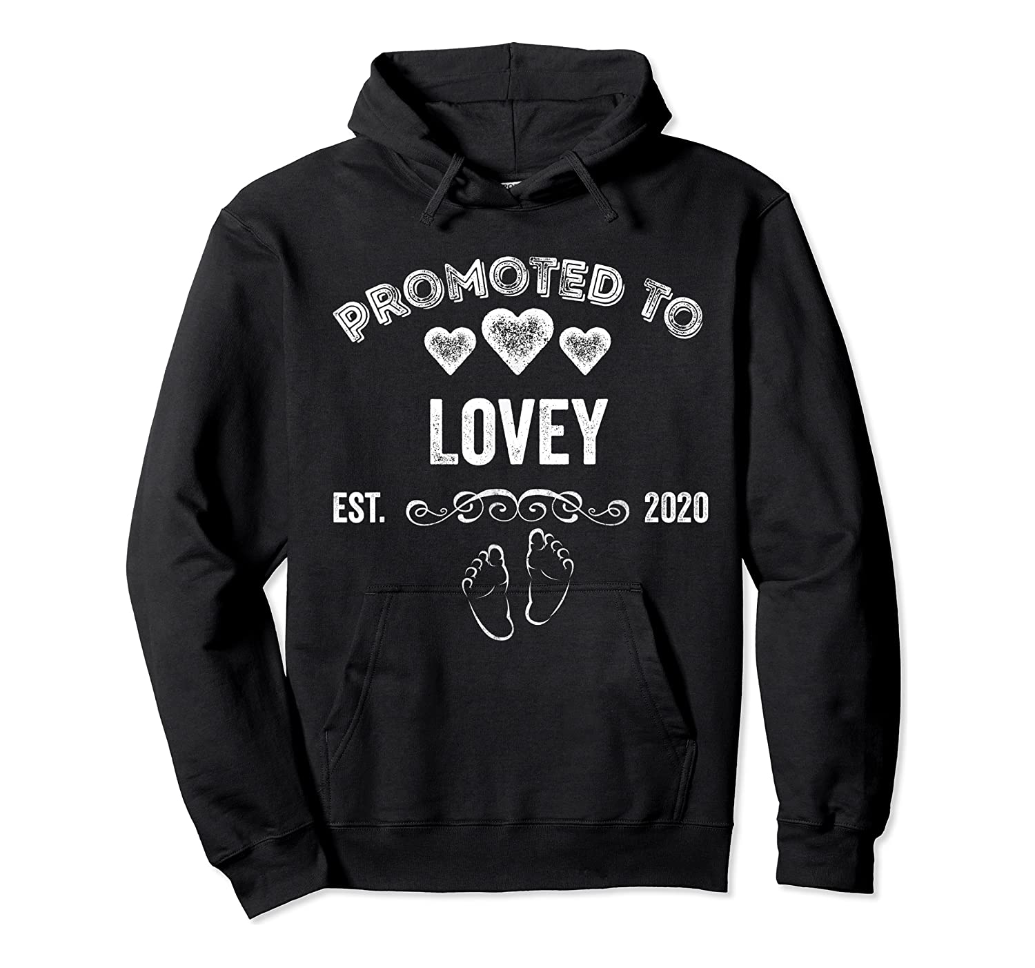 Promoted To Lovey Est 2020 Shirt Gift For Mom T-shirt Unisex Pullover Hoodie