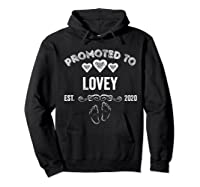 Promoted To Lovey Est 2020 Shirt Gift For Mom T-shirt Hoodie Black