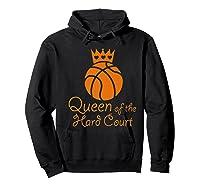 Basketball Girls Cute Queen Hard Court N Hoops Gift Shirts Hoodie Black