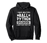 Ball Python Multiple Snake Disorder Gift Shirts Hoodie Black