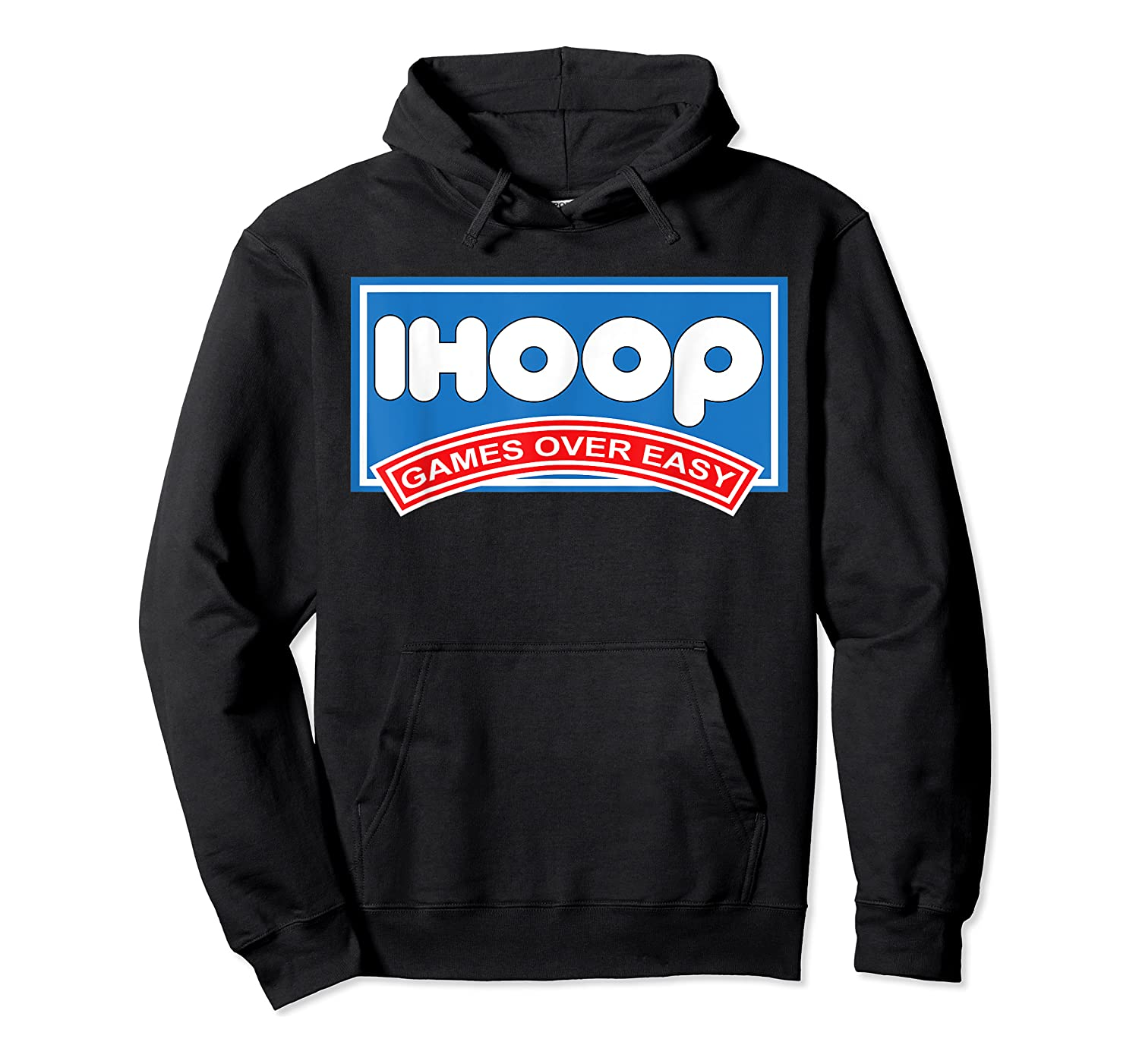 Ihoop Fun Basketball Shirt - Games Over Easy Graphic T-shirt Unisex Pullover Hoodie