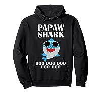 Papaw Shark T-shirt Doo Doo Doo Fathers Day Papaw Shirt Hoodie Black