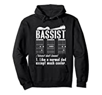 Bassist Dad Definition Guitar Chords Guitarist Bass Player Shirts Hoodie Black