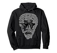 Marcus Aurelius Sunglasses T-shirt Funny Stoic Hoodie Black
